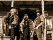 Joe Griffenberg, James Blackburn, and Kathleen Swenson in Vengeance Saloon